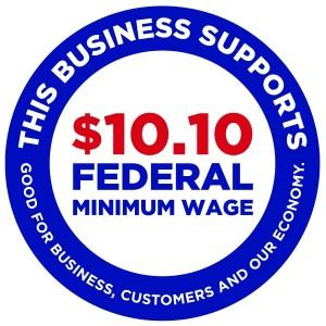 How A Sticker In A Store Window Could Push Lawmakers To Increase The Minimum Wage