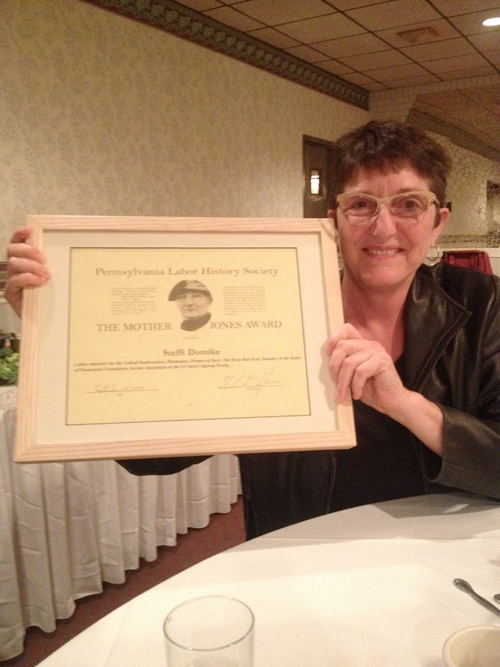 Honorable Mother Jones Award to Steffi Domike of Local 3657