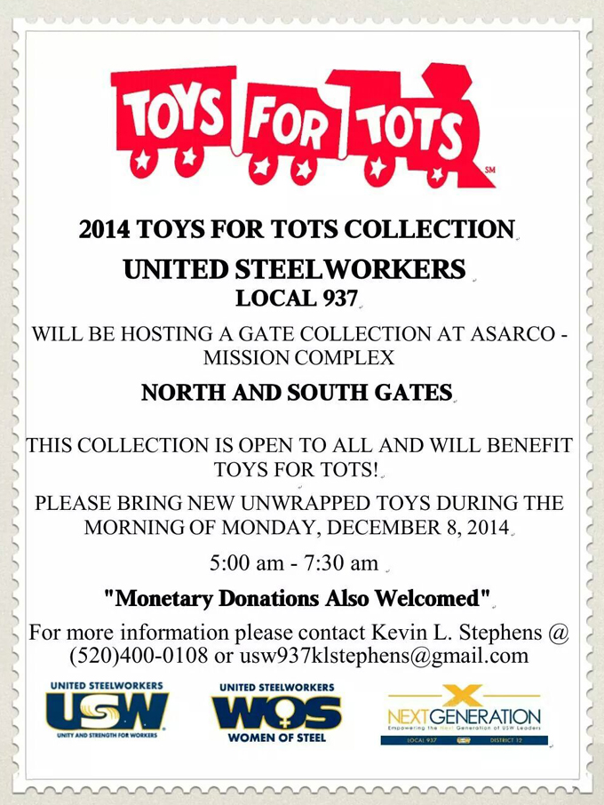 Toys For Tots Articles : Usw cares united steelworkers local toys for tots