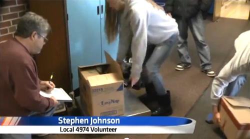 Steelworkers Collect Food for Canathon