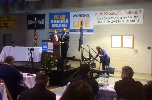 USW Local 1924 President Introduces AFL-CIO Executive Vice President at Raising Wages Summit