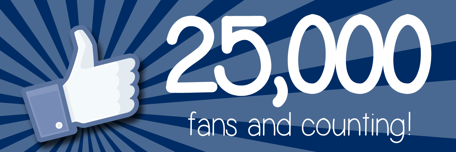 Will you be our 25,000th Facebook Fan?!