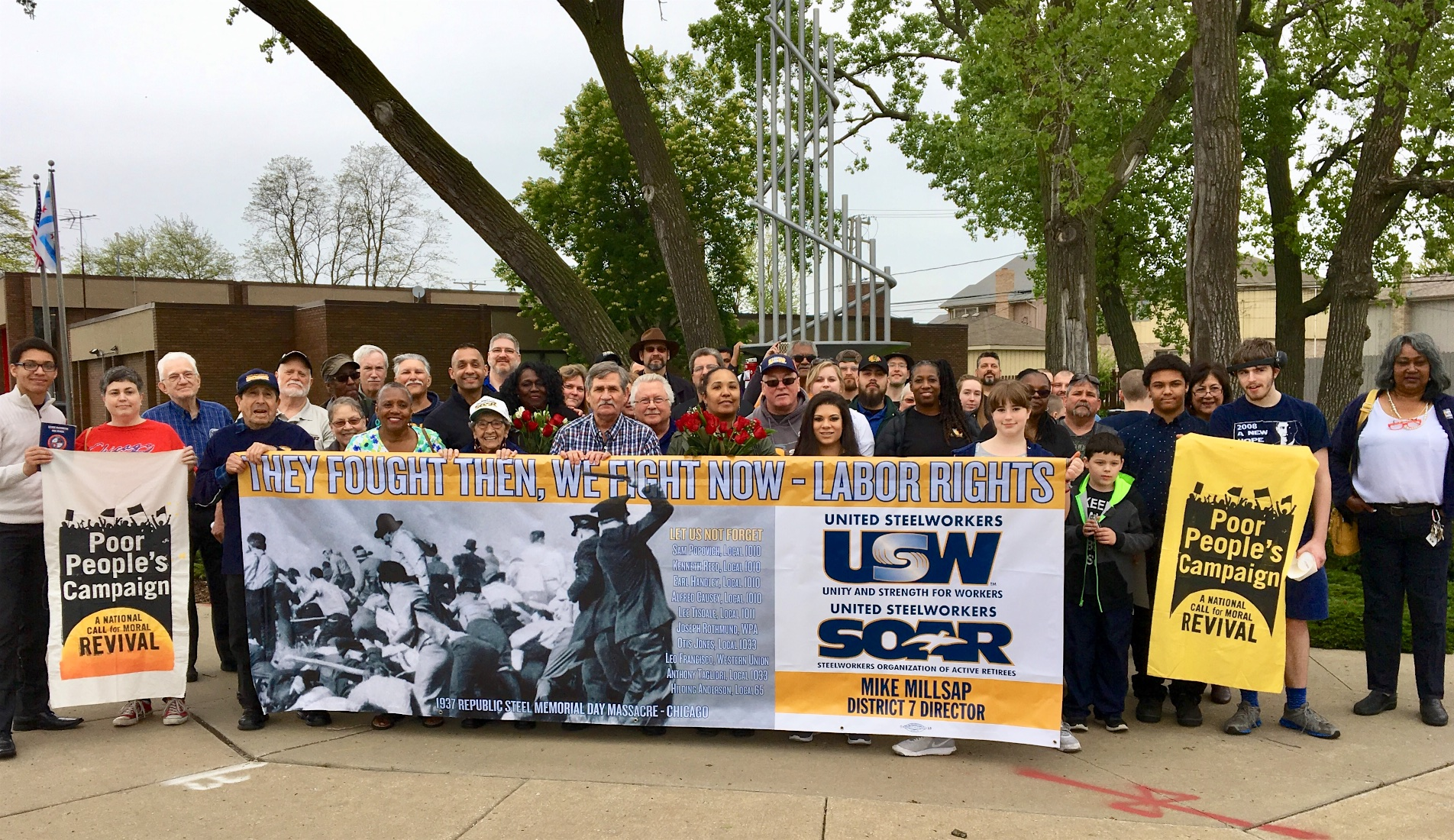 Rally Commemorates 1937 Memorial Day Massacre: District 7 SOAR Holds Annual Commemoration Of 1937