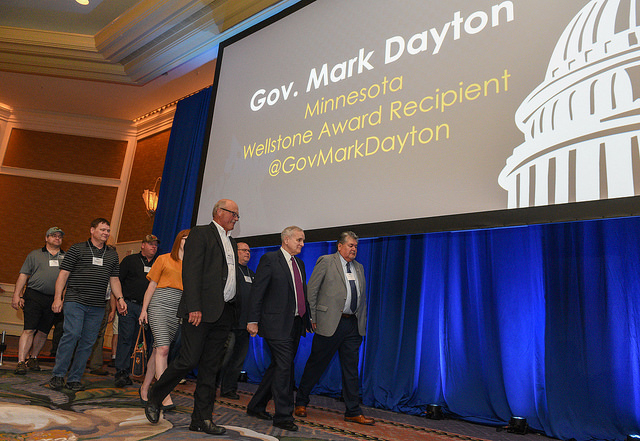 Governor Dayton receives Wellstone Award