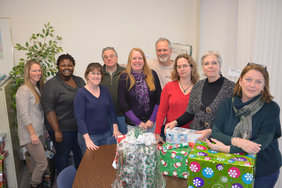 USW Local 9265 members adopted families at the North Eastern New York AIDS Council.