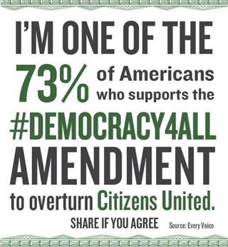 Reverse Citizens United! Pass the Democracy for All Amendment!