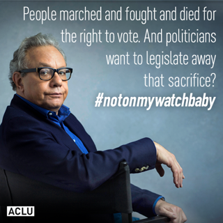 ACLU's Voting Rights Ambassador Lewis Black Says It All