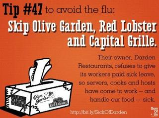 Unhealthy: Eating in Restaurants that Don't Provide Workers with Paid Sick Leave